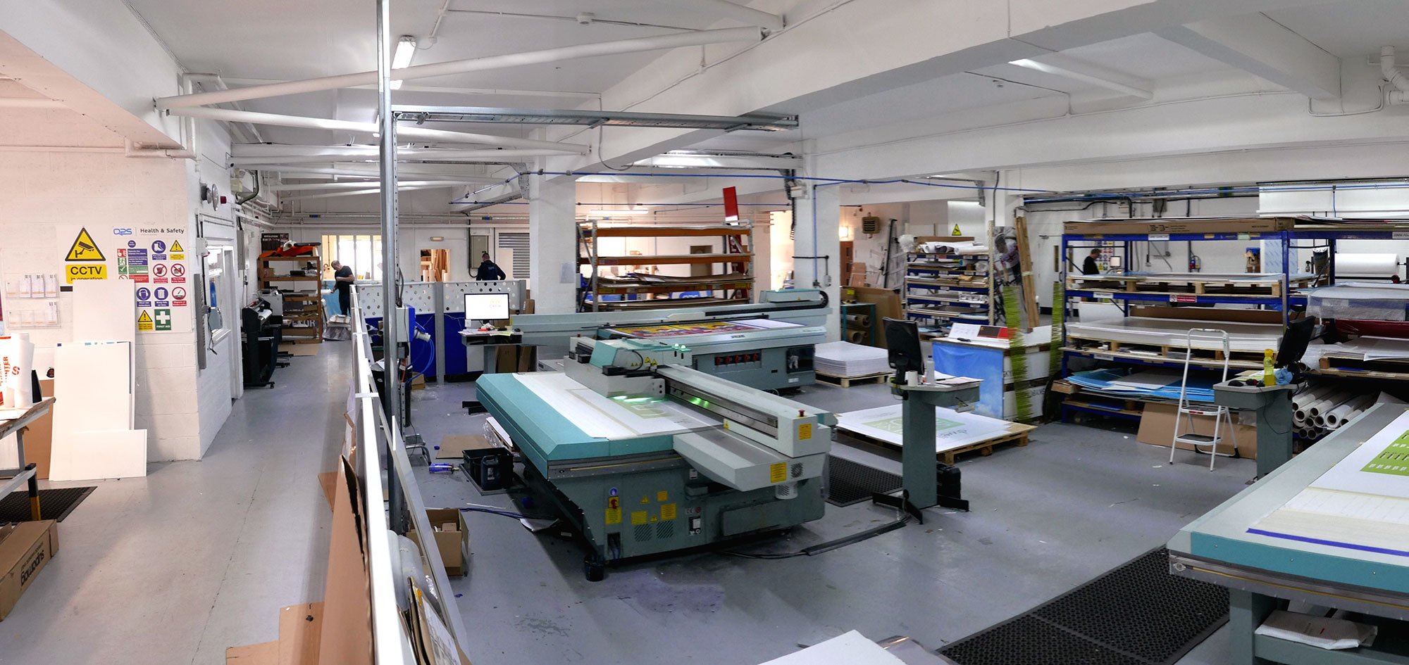 Image showing the Fuji Acuity machines for UV flatbed printing at QPS Print Stoke on Trent Staffordshire
