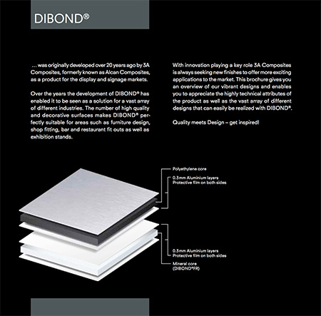 Image showing the construction of Dibond from 3A Composites and used in a blog post about Dibond printing from QPS Print of Stoke on Trent