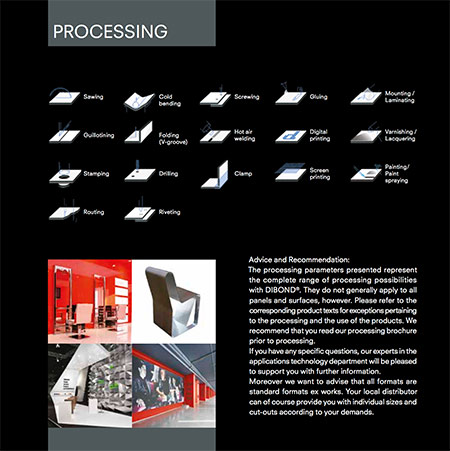 Image showing the processing of Dibond Digital from 3A Composites and used in a blog post about Dibond printing from QPS Print of Stoke on Trent