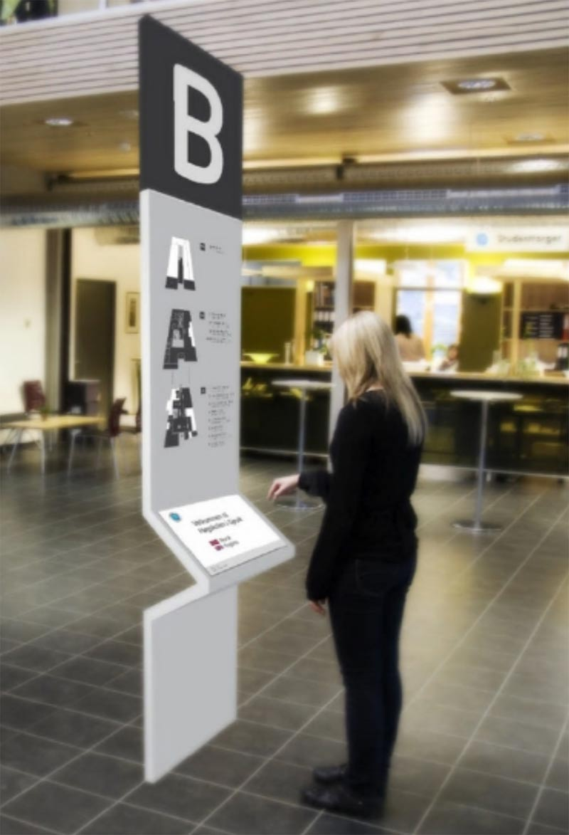 Museum wayfinding kiosk used in a blog post by QPS Print