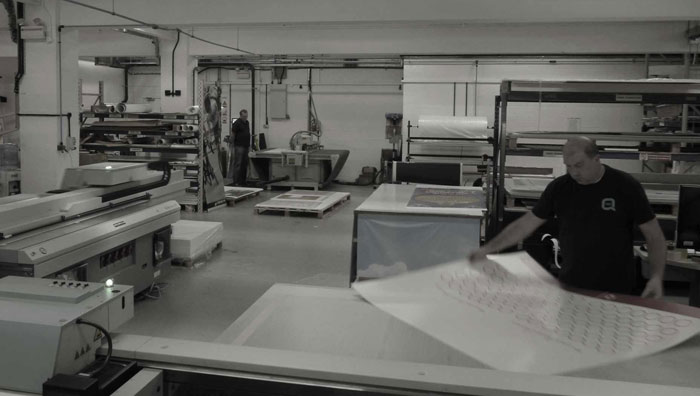 Image showing the production floor of QPS Print Staffordshire