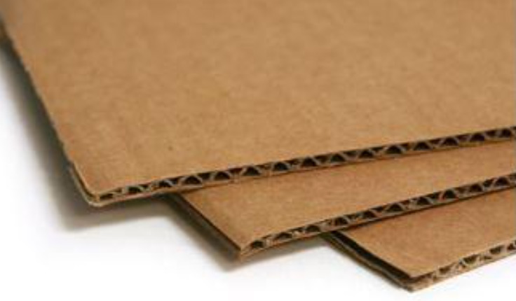 Corrugated cardboard image used in a blog post about eco-friendly signage options by QPS Print