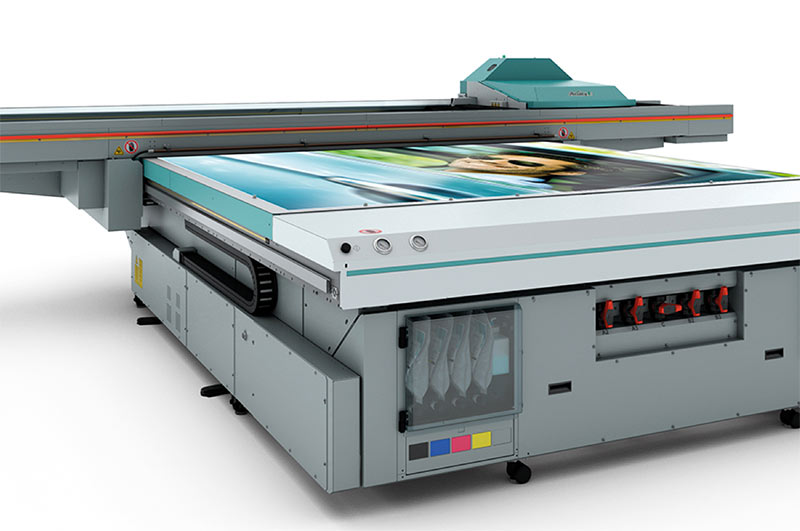 Image showing the Fuji Acuity UV flatbed printer at QPS Print
